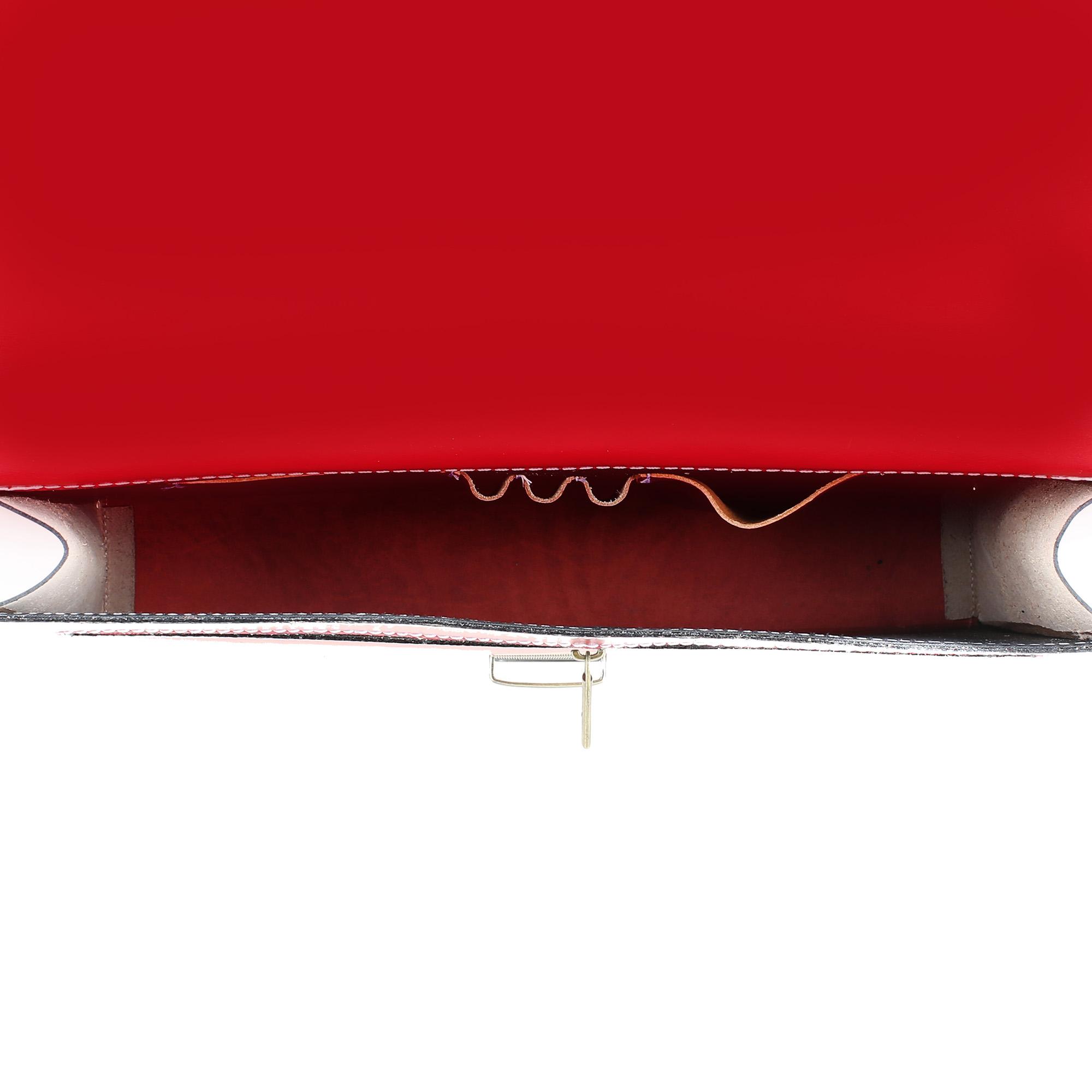 borsa cartella porta documenti lavoro uomo vera pelle made in italy rosso 7004