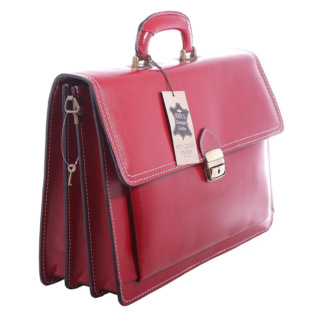 borsa cartella porta documenti uomo vera pelle made in italy marrone scuro 7009