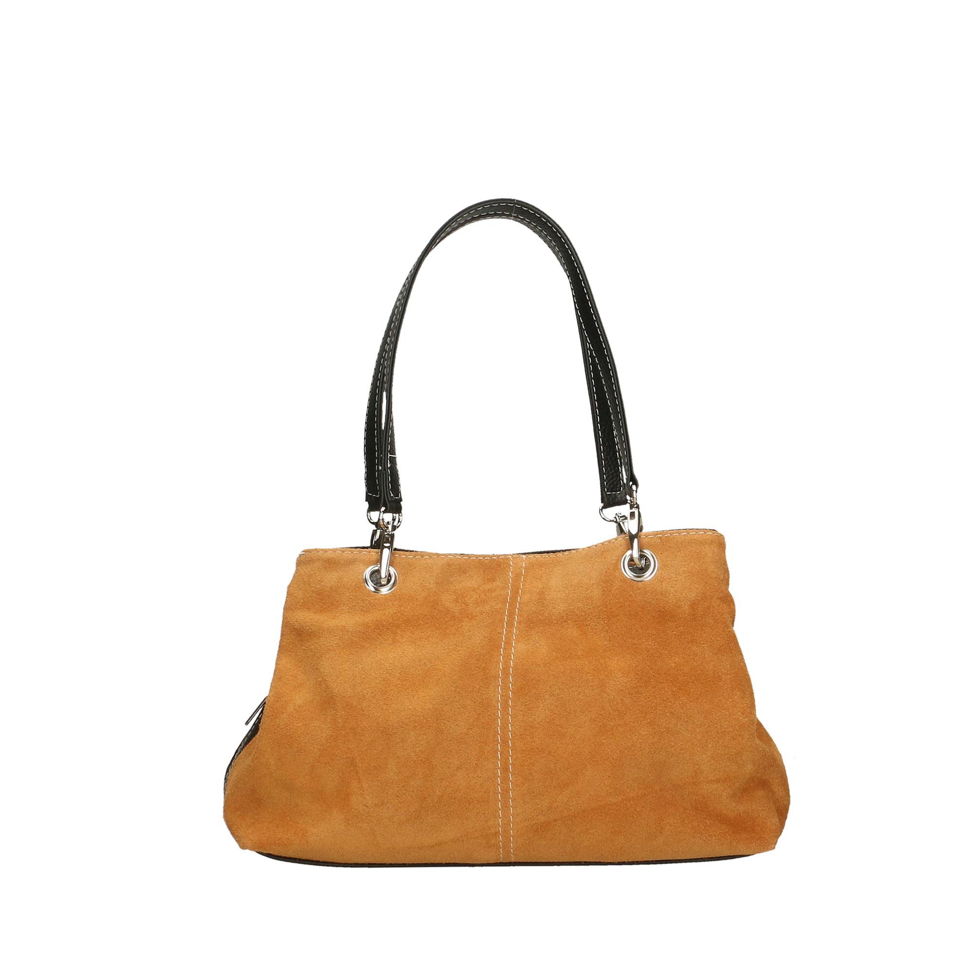 borsa vera pelle made in italy borsetta bag scamosciata con manici rosso 10028