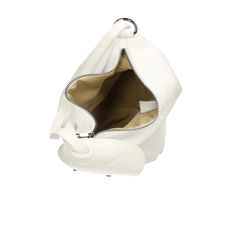 Chicca Borse Backpack Borsa Zaino Donna Vera Pelle Made Italy 34006 15x25x20 Cm